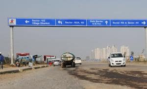The 18km portion of the NPR falling in Gurgaon, between the Delhi border and the National Highway near Kherki Daula, is incomplete.