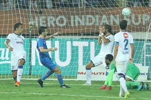 Manuel Lanzarote Bruno of FC Goa during the second semi final of Indian Super League against Chennaiyin FC held at the Jawaharlal Nehru Stadium in Margao.