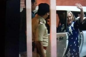 Hillary Clinton begins her three-day Madhya Pradesh tour
