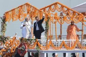Varanasi treats Macron and Modi to a cultural extravaganza