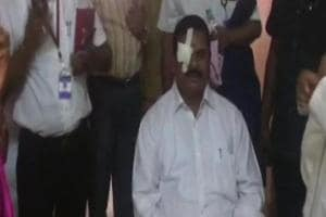 Ruckus in Telangana house; council chairman injured as Cong MLA throws...