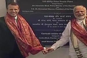 Prime Minister Narendra Modi received French President Emmanuel Macron...