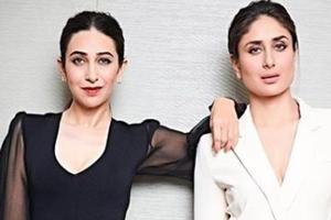 Actors Karisma Kapoor and Kareena Kapoor Khan stuck to monochrome style at the India Today Conclave 2018 on Saturday.