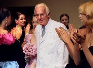 Hubert de Givenchy, tower of French fashion and tailor to the stars,...