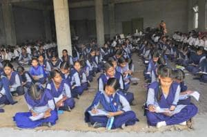 Class-10 PSEB exams begin: No space in school, junior classes take...