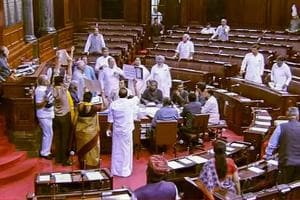 Ruckus in Rajya Sabha continues on sixth day, House adjourned till 2...