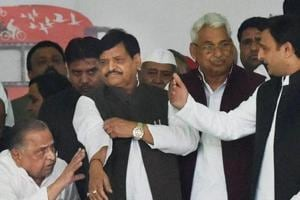 The Yadav family feud broke out in 2016 between Akhilesh Yadav and uncle Shivpal Yadav over control of the Samajwadi Party.