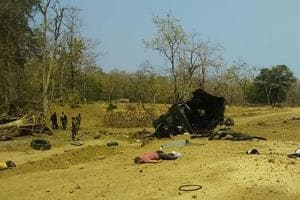 The rebels used a lot of explosives to blow up the vehicle, an official said.