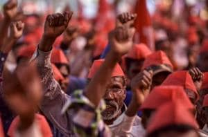 Nearly 30,000 farmers, including children, women and the elderly, started from Nashik on March 6 and walked six days to reach Mumbai to highlight their demands.