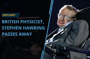 Renowned British theoretical physicist Stephen Hawking has died at 76....