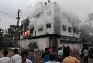 Fire guts two floors of building near Mumbai; 6 residents rescued, 1...