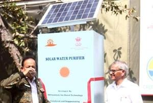 Solar water purifiers to be installed in two slums and a school in...
