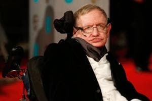 In this file photo taken on February 8, 2015, British scientist Stephen Hawking arrives for the BAFTA British Academy Film Awards at the Royal Opera House in London. Hawking's mental genius and physical disability made him a household name and inspiration across the globe.