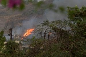 Green cover lost: Fire breaks out at Nerul hills