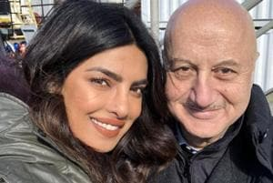 Priyanka Chopra gets a surprise visit from Anupam Kher and is reminded...