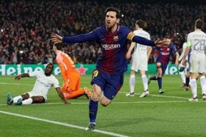 Lionel Messi delighted to reach 100 Champions League goals