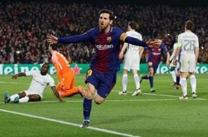 Lionel Messi reaches 100 Champions League goals as FC Barcelona crush...