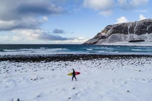 Photos: A surfing paradise under the Northern Lights in Arctic Norway