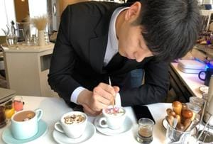 Care for some art with your coffee? This South Korean barista's latte...