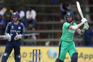 Ireland beat Scotland by 25 runs in Super Six of ICC World Cup...