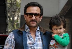 Taimur is ecstatic to see Saif Ali Khan, revels in daddy's arms. See...