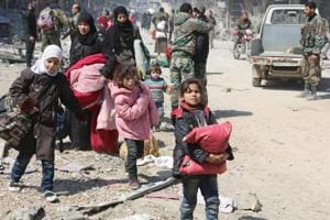 Thousands more Syrians flee their homes as eastern Ghouta, Afrin...