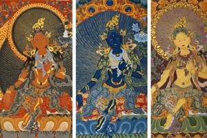 This exhibition in Mumbai showcases Thangka religious art by Buddhist...