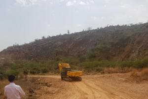 Gurgaon: NGT stops road laying work in Aravallis