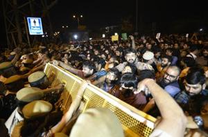JNU sexual harassment case: Protesting students clash with police,...