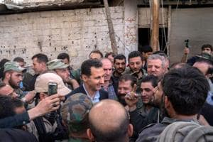 Syria's Bashar al Assad visits army in eastern Ghouta as rebels in...