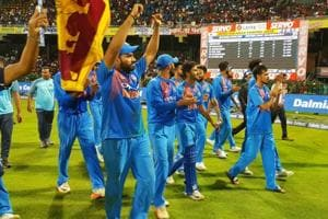 Indian cricket team's flag gesture after Nidahas Trophy final wins Sri...