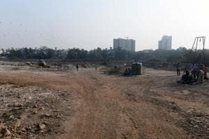 Land of Raheja builder near Salim Ali Bird Sanctuary at Yerwada in Pune on Thursday.