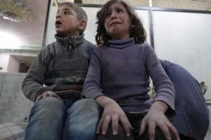 Air strike on Syria's Ghouta kills 15 children taking shelter in...