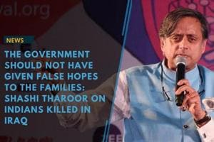 Senior Congress leader Shashi Tharoor criticised the government on...