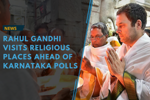 Rahul Gandhi has been visiting numerous religious places during his...