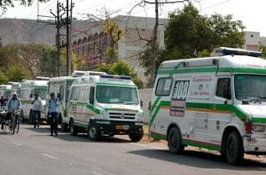 Patients in Rajasthan suffer as ambulance strike enters third day