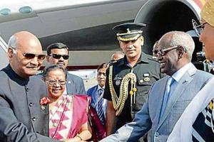 President Kovind and V-P Venkaiah Naidu to head India's Africa...