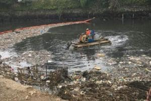Civic body set to use trash booms to clear floating waste from drains...