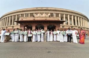 Parliament Live: TDP MPs hold protest demanding special status for...