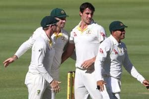Dean Elgar ton boosts South Africa, Australia fight through Pat...