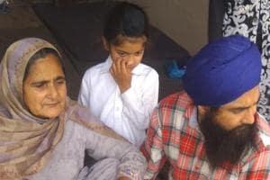 Family members of Sikh activist Gurbaksh Singh Khalsa.