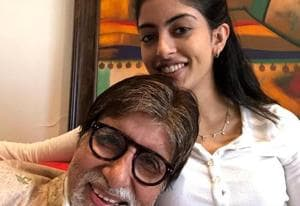 Amitabh Bachchan is happy to be back at home with granddaughter Navya...
