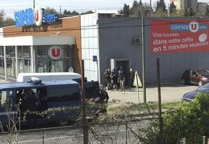 France supermarket hostage-taker shot dead after he kills 3, IS link...
