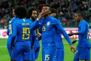 Brazil sink Russia with second-half breakthrough in football friendly