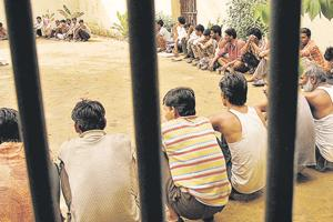 Prisoners at an open jail in Jaipur in 2006. One of the issues that the NHRC has been involved in is prison reforms. Overcrowding has been one of the problems in Indian prisons. The NHRC has been monitoring the living conditions of prisoners and ensuring that they are guaranteed basic human rights.  The NHRC also keeps track of 'encounter killings' and deaths in custody and has issued guidelines in 2010 wherein every death in police action has to be reported to the NHRC within 48 hours of the incident.