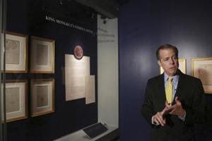 Letters from Thai king to US President Abraham Lincoln on display at...
