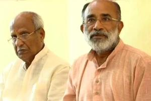 Union minister of state for tourism KJ Alphons interacts with media in Trivandrum.