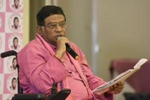 Ajit Jogi address a Press Conference on expose on how Govt in action is protecting culprits in high profile cases – Panama Leaks & FIPB approvals investigation, at Le Meridien in New Delhi.