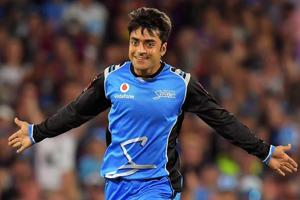 Afghanistan's Rashid Khan is the fastest to complete 100 ODI wickets in only 44 games.