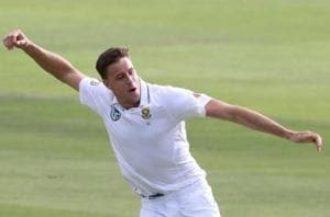 Morne Morkel, who won the Man-of-the-Match award for his heroics in...